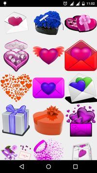 Love Smileys Stickers watsapp screenshot 3