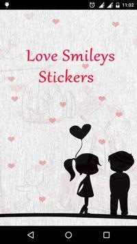 Love Smileys Stickers watsapp poster