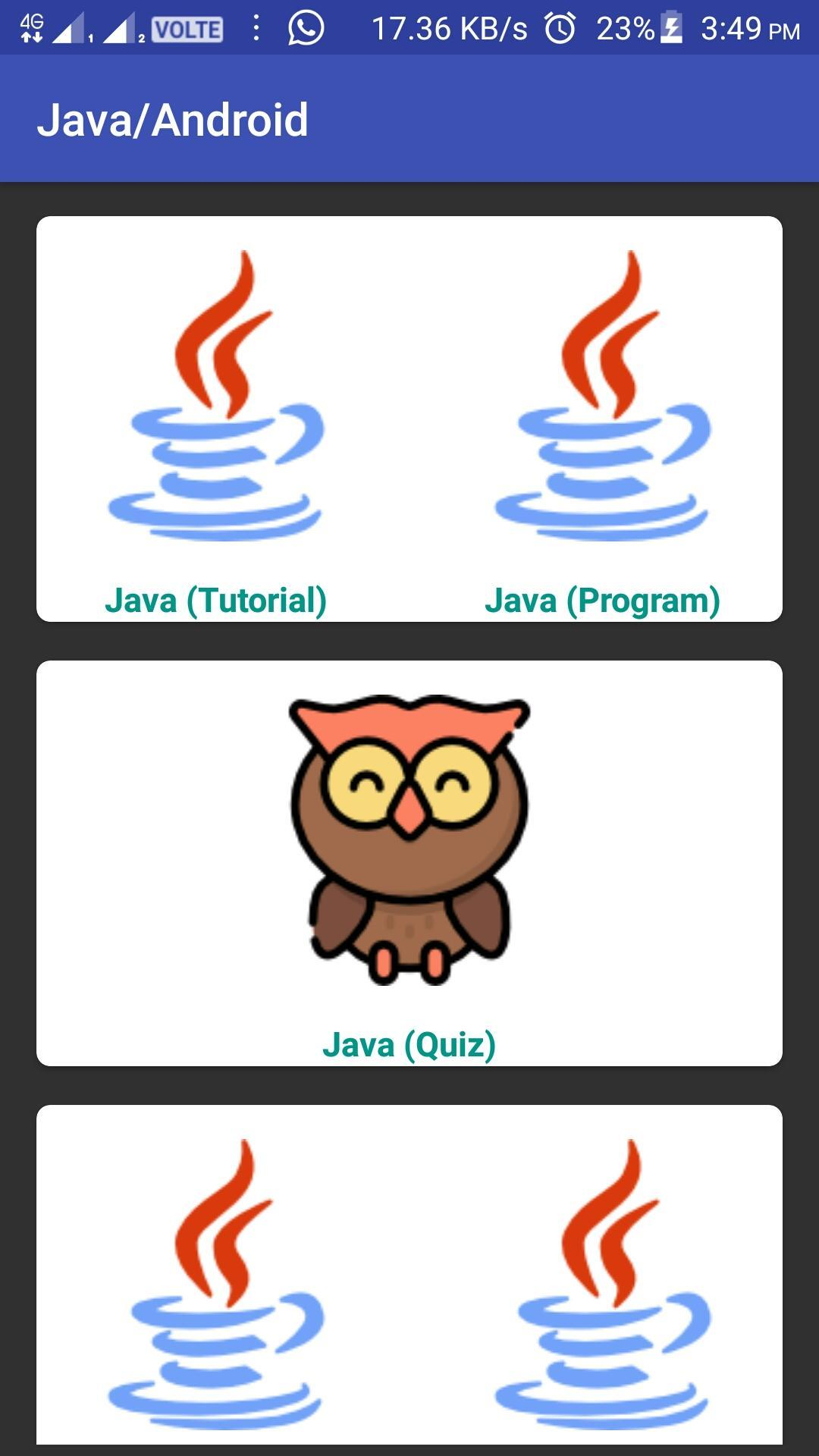 Explore Java Core & Advance Android Basic n Quiz for Android