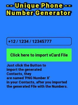 Unique Phone Number Generator screenshot 1