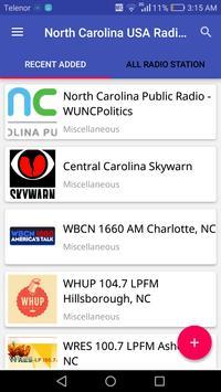 North Carolina Radio Stations poster