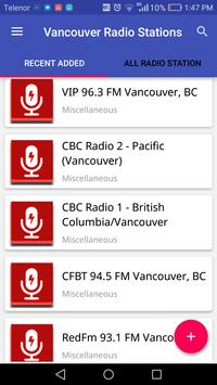 Vancouver Radio Stations poster