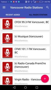 Vancouver Radio Stations screenshot 1