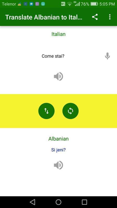 Translate Albanian To Italian Poster Screenshot 1