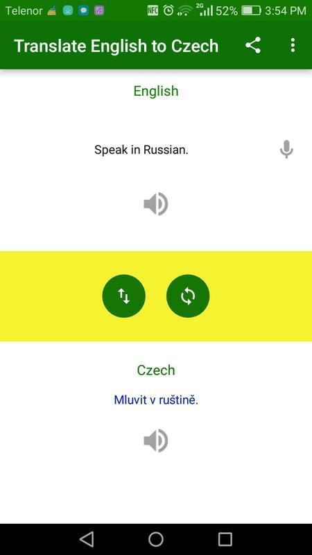Translate English To Czech Poster Screenshot 1