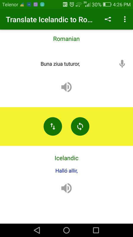 Translate Icelandic To Romanian Poster Screenshot 1