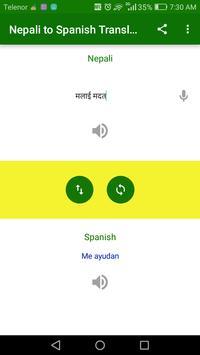Nepali to Spanish Translation screenshot 3