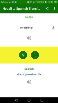 Nepali to Spanish Translation screenshot 1