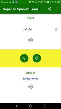 Nepali to Spanish Translation screenshot 2
