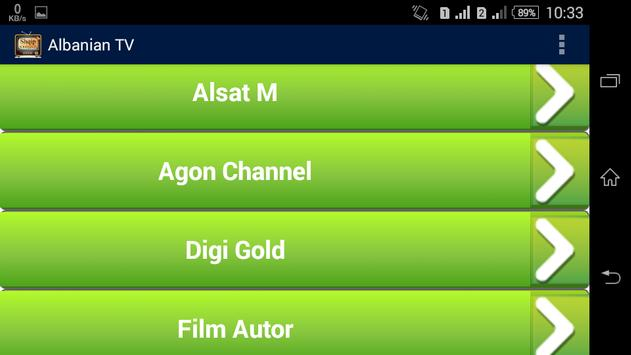 Albanian TV - Shqip TV apk screenshot