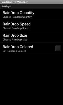Blue Raindrop Live Wallpaper apk screenshot