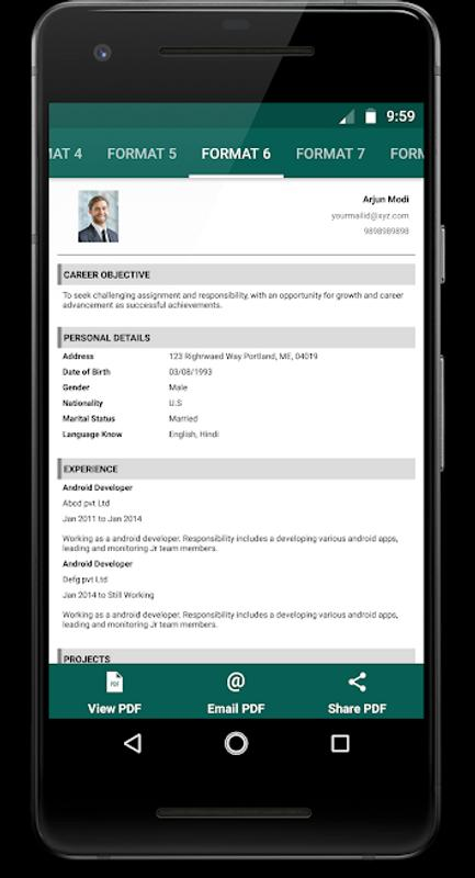 Resume Creator For Android Apk Download