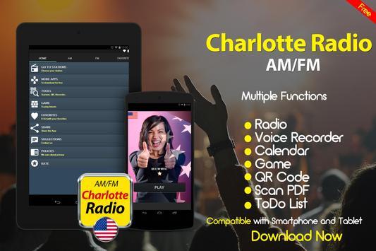 Charlotte Radio North Carolina Radio United States apk screenshot