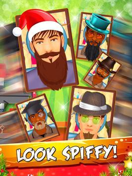 Crazy Beard Salon My Christmas apk screenshot