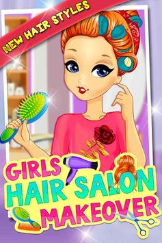Girls Hair Salon Makeover poster