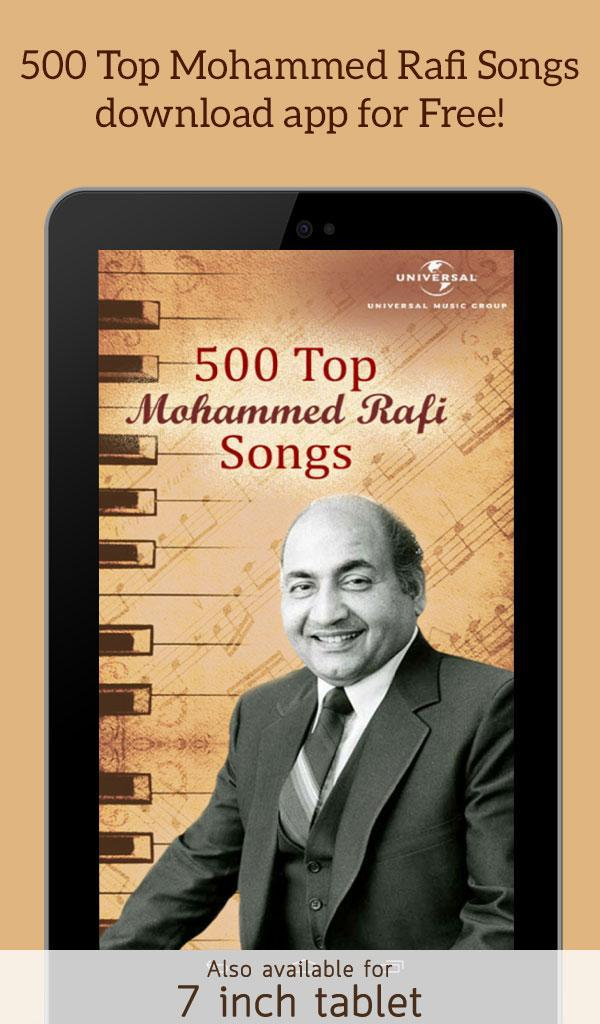 500 Top Mohammed Rafi Classic Old Hindi Songs for Android