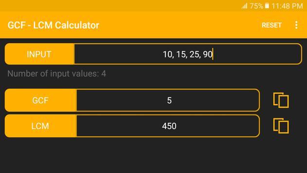 GCF - LCM Calculator screenshot 7