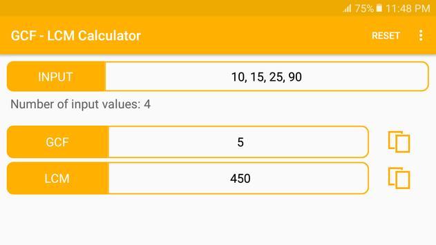GCF - LCM Calculator screenshot 8