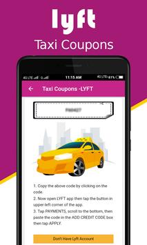 Cab Coupons for Lyft apk screenshot
