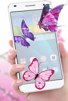 Butterfly in Phone Funny Joke poster