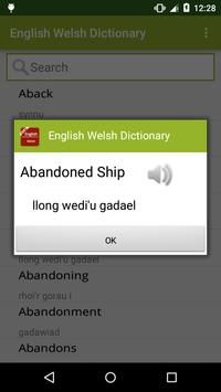 English to Welsh Dictionary screenshot 1