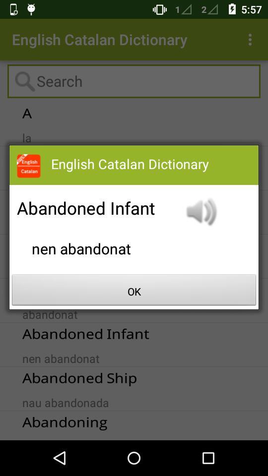 English Catalan Dictionary poster