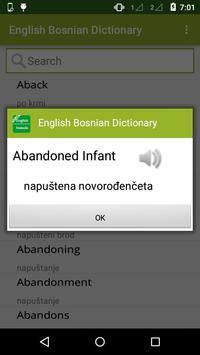English Bosnian Dictionary poster