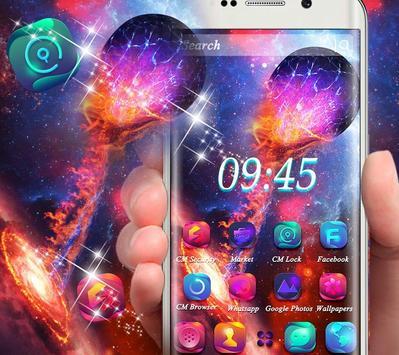 Universe Galaxy Fixed Star Theme screenshot 5