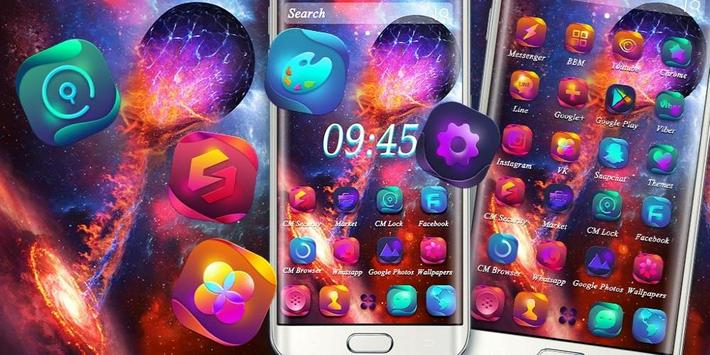 Universe Galaxy Fixed Star Theme screenshot 3