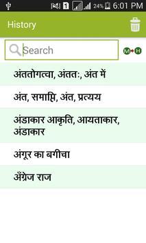 Hindi to Marathi Dictionary apk screenshot