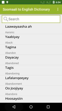 Somali To English Dictionary apk screenshot