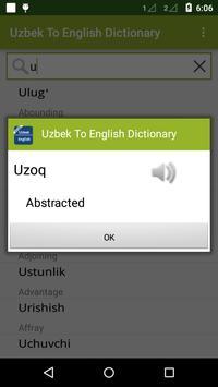 Uzbek To English Dictionary apk screenshot