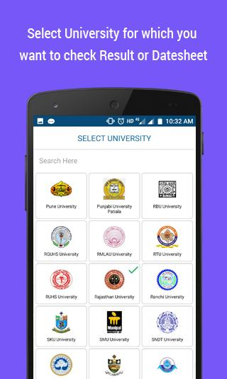 University Results 2018, University Datesheet 2018 for Android - APK