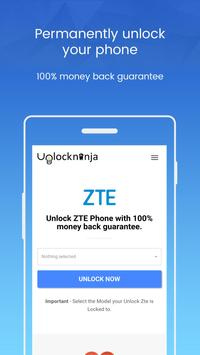 Unlock ZTE Phone - Unlockninja.com poster