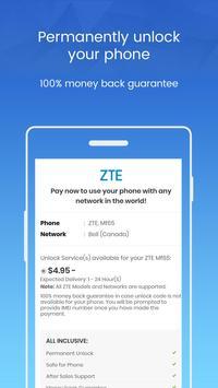 Unlock ZTE Phone - Unlockninja.com screenshot 2