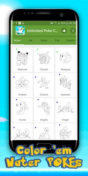 Unlimited Poke Coloring Book screenshot 1