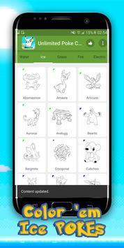 Unlimited Poke Coloring Book screenshot 2