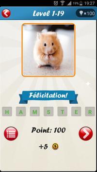 1 Image 1 Mot : Quiz Animaux screenshot 3
