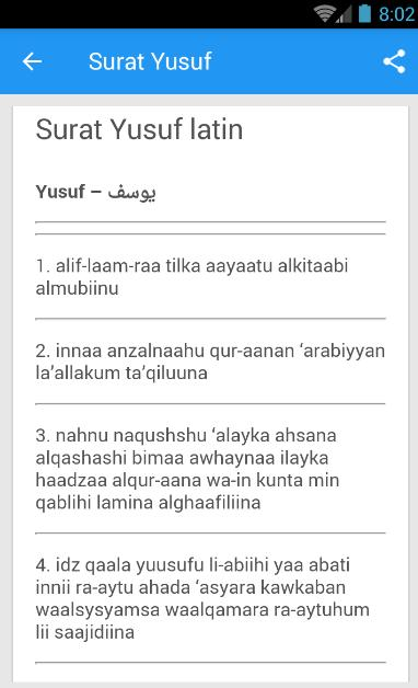 Surat Yusuf Arab Latin For Android Apk Download