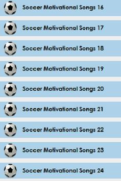 5 Schermata Soccer Motivational Songs