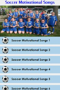 Soccer Motivational Songs Plakat