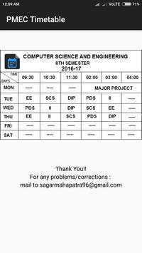 PMEC Timetable screenshot 6