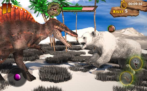 T-Rex Simulator 3D: Dino Attack Survival Game apk screenshot