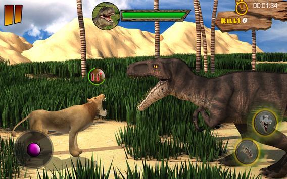 T-Rex Simulator 3D: Dino Attack Survival Game screenshot 12