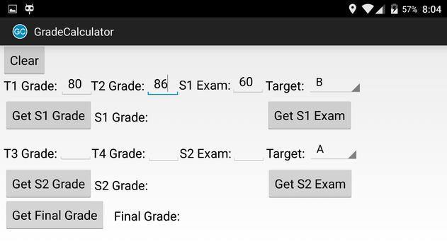 FBISD Grade Calculator apk screenshot