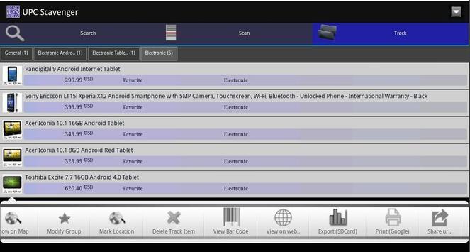 UPC Scavenger apk screenshot