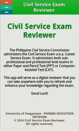 how to take civil service exam