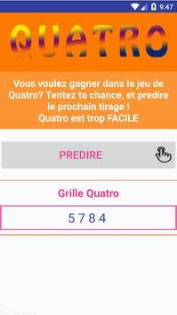 Quatro Tirage Prediction VIP apk screenshot