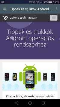 Upfone.hu techmagazin apk screenshot