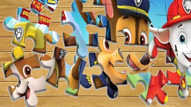 Paw Puppy Jigsaw Kids poster